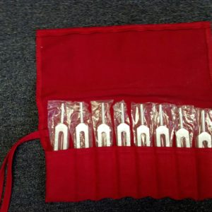 Custom Set of 8 Tuning Forks in Pouch