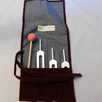 Verdi Set of # Tuning Forks Plus Soft Rubber Hammer in Pouch